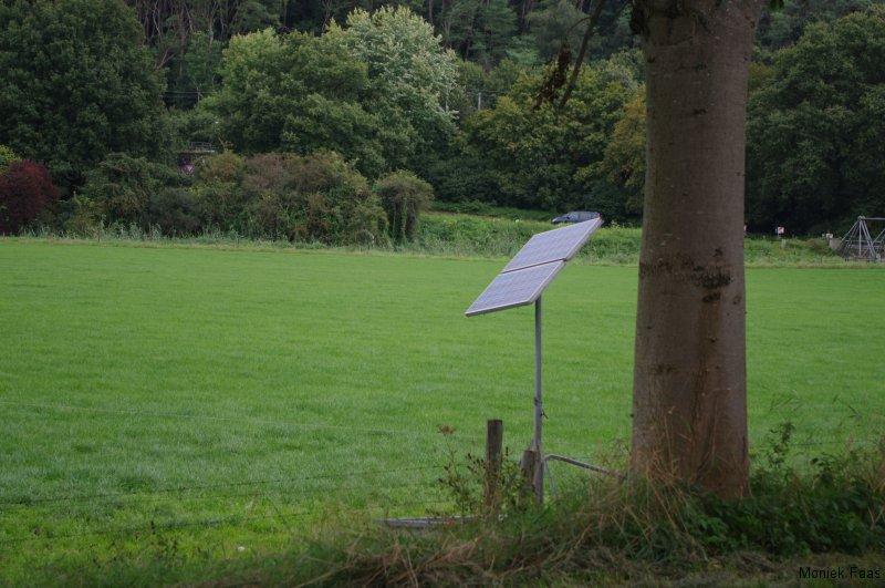 Schrikdraad op zon energie, idee voor Nelleke