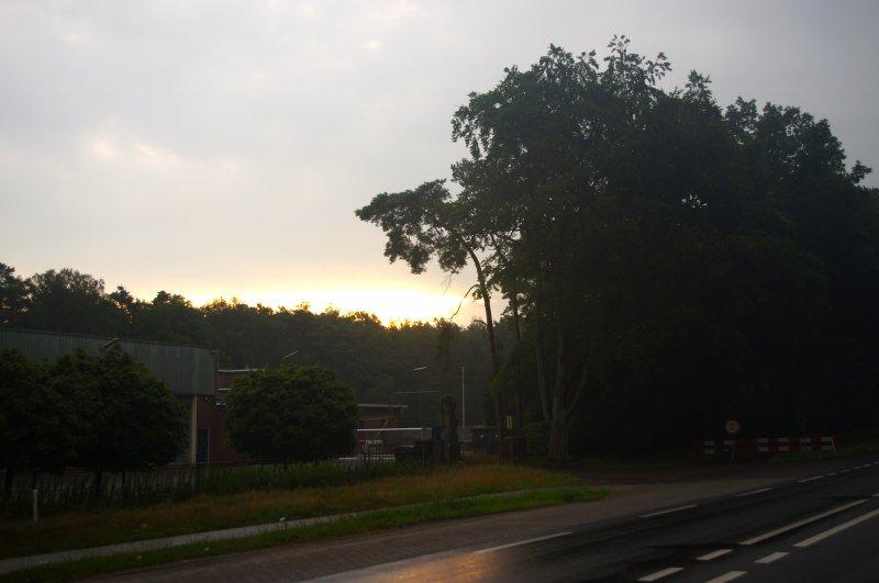 De lucht kleurt, goedemorgen
